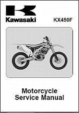 Buy 2012 2013 2014 Kawasaki KX450F Service Manual on a CD