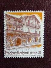 Buy Andorra Spanish 1990 1v used stamp Mi217 Buildings | Houses | Tourism