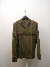 Buy Mens Sweater SIZE XL Striped Half Zip MockNeck Rib Waist Long Sleeve