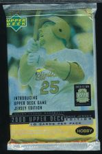 Buy 3 new baseball PACKs - 2000 UPPER DECK GAME JERSEY EDITION HOBBY game used ball