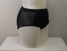 Buy PLUS SIZE 22 Women Charlatan Bikini Bottom SWIM SEXY Crochet Side Solid Black
