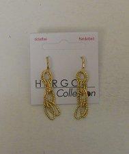 Buy Women Fashion Drop Dangle Link Earrings Gold Tones HERGO COLLECTION Hook Fastene