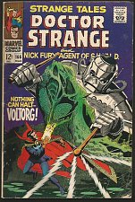 Buy STRANGE TALES #166 DR STRANGE STERANKO on SHIELD 1967 Marvel Comics VG+/FINE-
