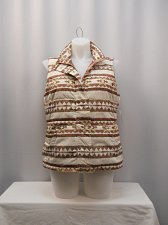 Buy Vest Plus Size 1X Charter Club Multi Color Geometric Sleeveless Collared Neck