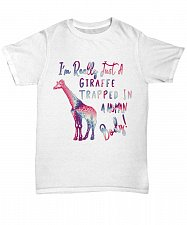 Buy I'm Really Just A Giraffe Trapped In A Human Body TShirt Unisex Tee