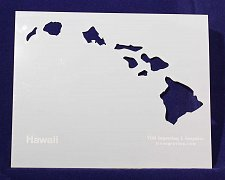 Buy State of Hawaii Stencil -14 mil Mylar Painting/Crafts