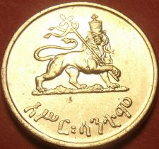 Buy Ethiopia EE1936 (1944) 10 Cents Unc~Excellent~Only Year Ever~Lion~Free Shipping