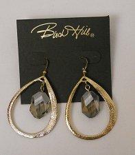 Buy Women Fashion Drop Dangle Earrings Gold Teardrops Crystal Center BIRCH HILL Hook