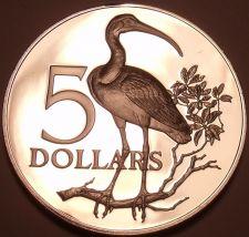Buy Rare Silver Proof Trinidad & Tobago 1971 $5.00~11,000 Minted~Scarlet Ibis~Fr/Shi