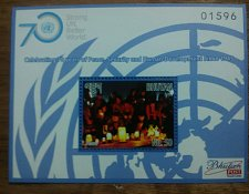 Buy Bhutan 2015 MNH Sheets 4v & 1v 70 Years with UN Peace Security & Developement