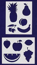 Buy Fruit Stencils-2 pc Set-14 Mil Mylar- Painting/Crafts/Template