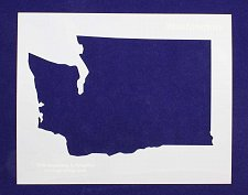 Buy State of Washington 8x10 inch Stencil -14 mil Mylar Painting/Crafts