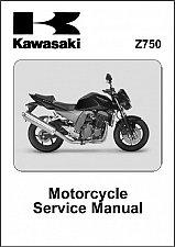 Buy 2004-2005-2006 Kawasaki Z750 Service Manual on a CD