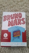 Buy BRUNO MARS RARE ATHLETIC CUT BLUE T-SHIRT NEW IN BOX LARGE