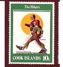 Buy Cook Islands 1v mnh stamp 1982 Norman Rockwell