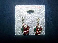 Buy Christmas~Santa Earrings~Dangling~Silver color