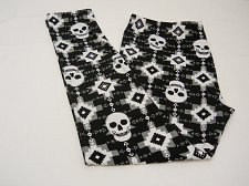 Buy SIZE XL Women Skull Leggings Super Soft Sueded Black Skinny Legs Mid Rise Inseam