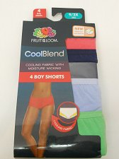 Buy PLUS SIZE 9/2X Women 4 Pack Boy Shorts Panties FRUIT OF THE LOOM Multi Assorted