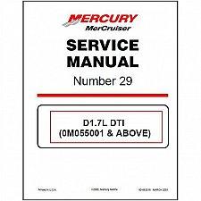 Buy 2000-2015 MerCruiser # 29 Sterndrive D1.7L DTI In‑Line Diesel Service Manual CD