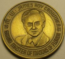 Buy Large 39.1mm Solid Bronze Grand Master Of Masons Of Florida Medallion~Free Ship