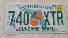 Buy 2010 Florida FL Auto Car Truck License Plate Tag# 740 XTR (405)