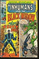 Buy Amazing Adventures #5 THE INHUMANS & the BLACK WIDOW Comics 1971 ADAMS, Thomas