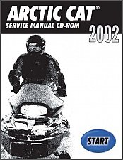 Buy 2002 Arctic Cat All 2 & 4 Stroke Model Snowmobiles Service Repair Manual CD