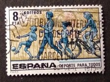 Buy Spain 1v used Stamp Sport for all. Forms of Exercise Sport for all.Mi2409