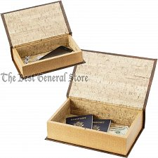 Buy 2pc Faux Book Safe Set with Magnetic Closure or Storage Box for Craft Supplies