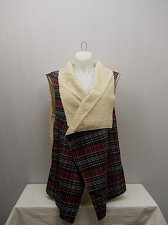 Buy PLUS SIZE 3X Womens Shearling Wrap Vest CONCEPTS Plaid Sleeveless Wide Collar