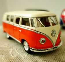 Buy Volkswagen 1962 Paint Classic Bus Kinsmart Diecast model Car 1/32,free shipping