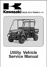 Buy Kawasaki Mule 3010 Trans 4X4 Service Repair Workshop Manual CD - KAF620J/K