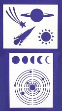 Buy Space-Planets Stencils-2 pc Set-14 Mil Mylar- Painting/Crafts/Template