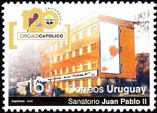 Buy URUGUAY 1 V STAMP 2005 - Catholic Circle, 120th anniv