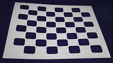 """Buy Checker/Chess Board Stencil 14 mil Mylar-15"""" x 15""""- Painting/Crafts/Template"""