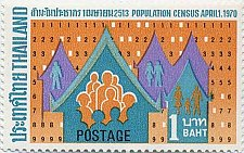 Buy Thailand 1v MNH stamp 1970 Issue Population census