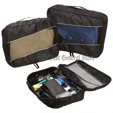 Buy 3pc 210d Polyester Packing Aid Cube Set with See-Through Mesh Small Travel Bags