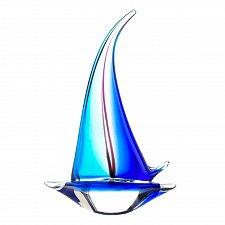 Buy *17382U - Sailor Boat Blue Art Glass Statue