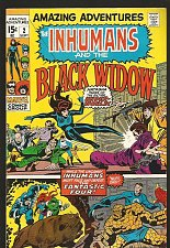 Buy INHUMANS and the BLACK WIDOW in Amazing Adventures #2 Marvel Comics KIRBY '70 VF