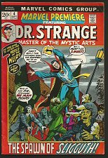 Buy Marvel Premiere #4 Dr. Strange Marvel Comics Goodwin Barry W. Smith Brunner 1972