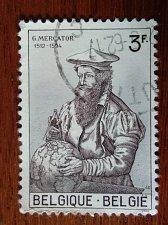 Buy Belgium Mi1273 used 1v stamp 1962 Mercator Gerard Geographers