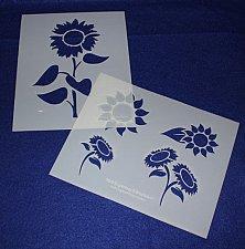 Buy 2 Piece Set -Mylar 14 Mil SunFlower Stencils Painting/Crafts/Stencil/Template