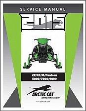Buy 2015 Arctic Cat ZR XF M Pantera 5000 7000 9000 Snowmobiles Service Manual CD