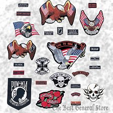 Buy Wholesale Lot of 26pc Embroidered Motorcycle Biker-Style Patch Patches Set