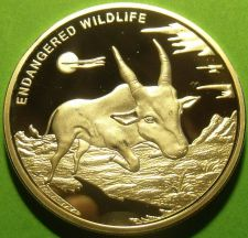 Buy Congo 2007 Silver Plated 10 Francs~Endangered Wildlife Series~Antelope~Rare
