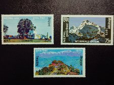 Buy NEPAL 1974 3 valueMNH STAMP Mountains Range Annapurna Mt. Makalu of .Himalayas