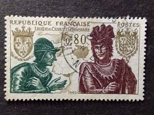 Buy France 1 v used stamp 1969 Louis XI and Charles the Bold Louis XI and Charles t