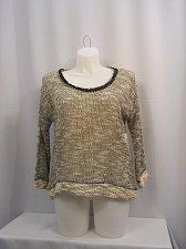 Buy Women Sweater Plus Size 1X Gray JESSICA SIMPSON 3/4 Sleeves Scoop Neck Thin
