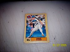 Buy 1987 Topps Traded Baseball DAVE CONE METS #T24 FREE SHIPPING