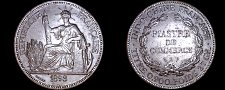 Buy 1898-A French Indo-China 1 Piastre World Silver Coin - Vietnam
